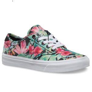 Vans Floral Camden Low Top Skate Shoe Sneaker 7.5